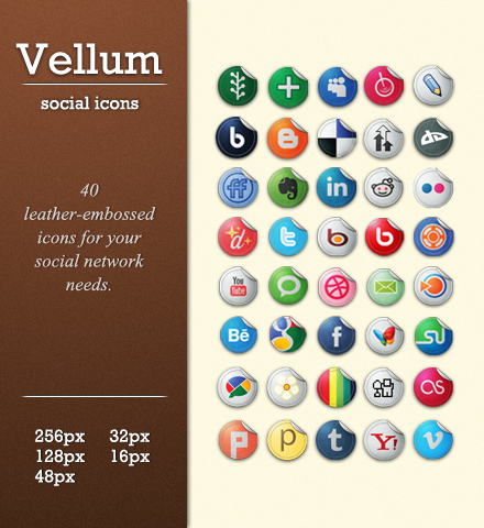 Snygga sociala ikoner