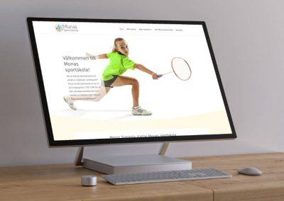 Ny sajt för Monas sportskola